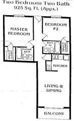 Ormond-by-the-Sea condo photo - Condo Layout
