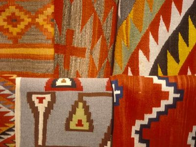 Santa Fe house rental - Beautiful Indian Rugs