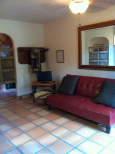 Austin area estate rental - .La Casita - living area, full size futon