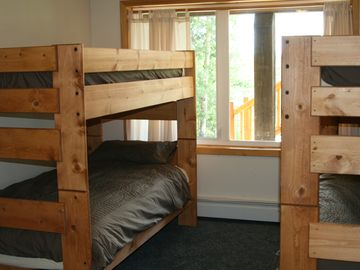 Hide-A-Way bedroom with two bunk beds: four twin beds total.