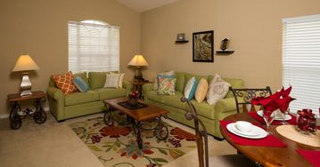 Serenity villa rental - Front living room: perfect for playing cards or having tea!