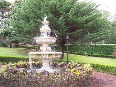 Formal garden fountain