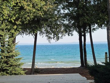 Views of Charlevoix from additional decking