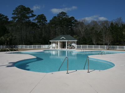 One of the four pools at True Blue.