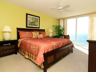 Master Suite with floor to ceiling windows!  Comfy king bed.