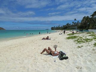 Kailua studio photo - Relax on the soft warm sand beach of Lanikai