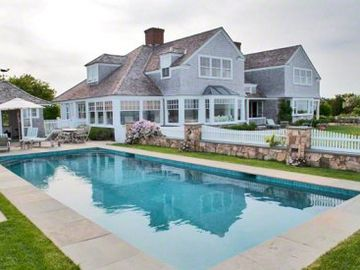 Edgartown estate rental - Eel Pond Estate: Waterfront Compound With Pool & Private Beach