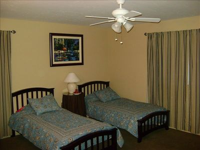 Two Twin beds in 4th bedroom