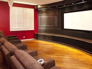 Chicago house photo - Movie Theater with seating for 6 people. It has DVD and AT&T U-verse