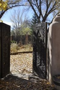 The Famous Victor Higgin's Gate-There's a Picture of Him Here in the Casita