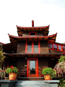 Why not vacation in an exotic Asian style house? Apt on left side downstairs.