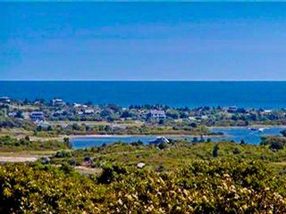 Gayhead - Aquinnah house photo - Martha's Vineyard Rental Aquinnah Hilltop House With Water Views & Pool - Menemsha Pond Menemsha Harbor View From Rooftop Deck