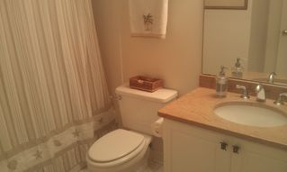 Vanderbilt Beach condo photo - Guest Bath New 'Sand' Granite Countertop