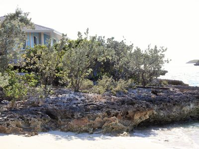 Newly built, ocean view cottage on a quiet beach just minutes from swimming pigs