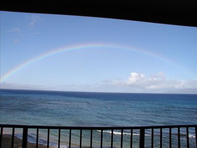 From the Lanai we have enjoyed Rainbows, Whales, Spinner Dolphins, Kite Boarders