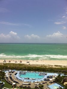 Direct ocean view from unit and intimately furnished balcony