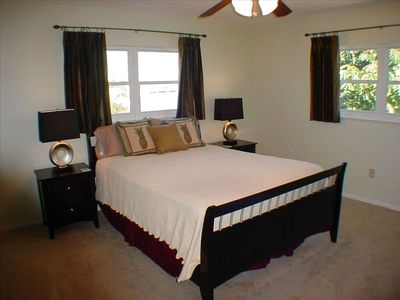 Master bedroom with attached full bath