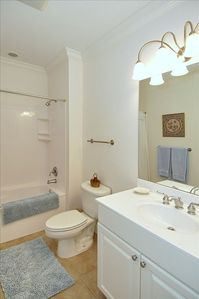Second full bath offers tub/shower combination