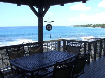 Full ocean views from lower lanai -- 180+ degree views!