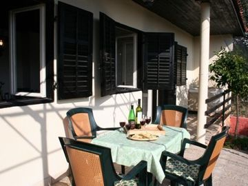 Rogoznica house rental - Terrace with garden