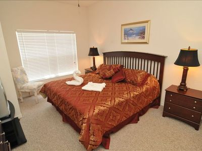 First Floor Master Bedroom with King Bed and Private Bathroom