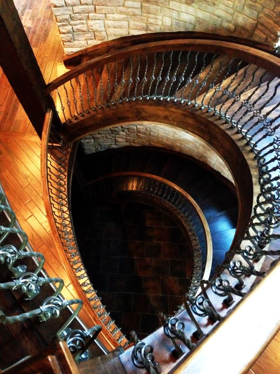 Spiral Staircase from the 3rd floor to the first.