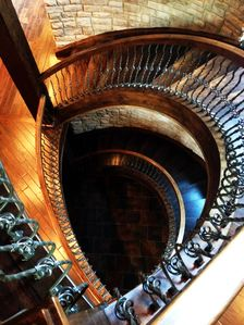 Osage Beach chateau / country house rental - Spiral Staircase from the 3rd floor to the first.