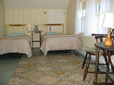 Eastham cottage rental - Upstairs Bedroom with twin beds