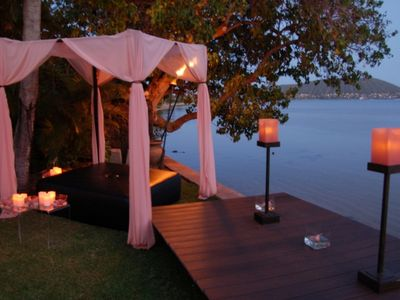 Outdoor lounge for wedding or event