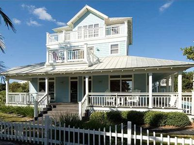 Crystal Shores house rental - Luxurious, wrap around decks, steps to the beach.