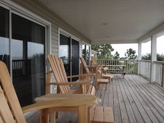 Port St. Joe house photo - Decks have very nice Captains Chairs and a picnic table