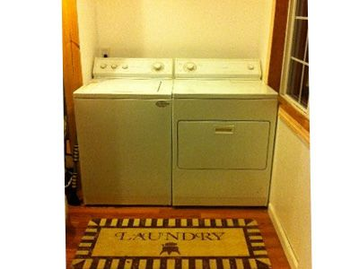Large Capacity Washer Dryer for all those wet towels and bathing suits!