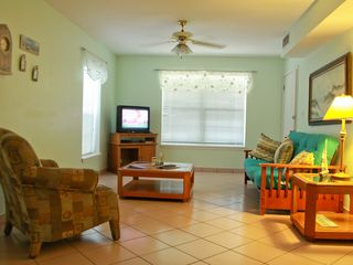 South Padre Island house photo - Downstairs living room area (Queen size futon)