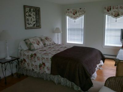 Queen/master bedroom on 1st floor of back house.