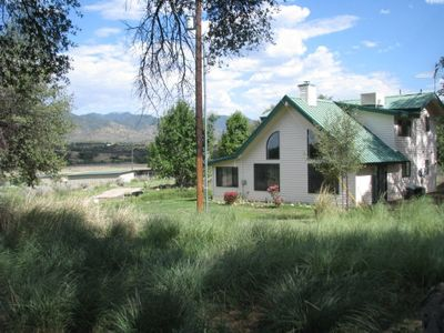 Heartland Guesthouse faces the  Huachuca Mountains to the east