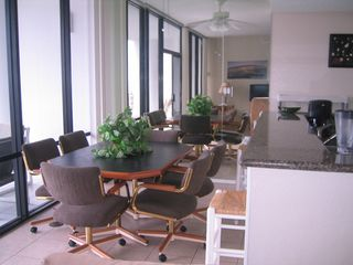 South Padre Island condo photo - Dining area with 6 chairs-New this year!