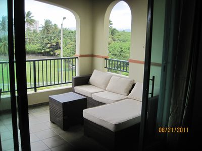 Luquillo apartment rental - Balcony Right Side