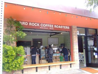 La Jolla house photo - Bird Rock Coffee Roasters. Local organic coffee shop owned by local Chuck Patton