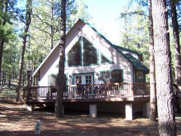 Flagstaff cabin rental - Cabin and Deck - Summer