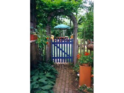 East Hampton cottage rental - gate