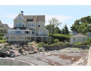 Cohasset house rental - Three story house with wrap around deck and garage - direct access to the beach.