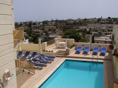 Mellieha villa rental - Pool Area