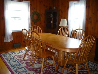 Falmouth house photo - Huge dining room table for large family dinners - or games, crafts, coloring!