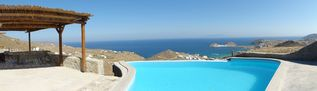 Mykonos villa photo - Pool panorama