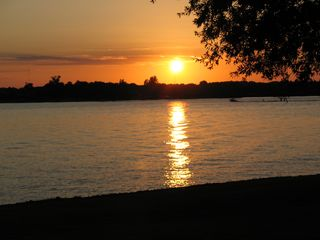 Sunset view from patio - Lake Anna house vacation rental photo