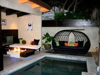 West Hollywood house photo - Cabana & Fireplace