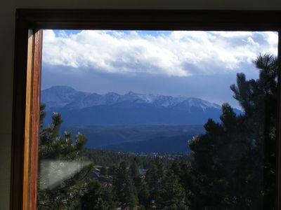 Wake up to this view from the loft rooms- Pike Peak
