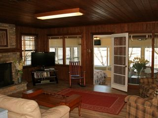 Burnet cottage photo - Sleeper Sofa, Comfy Chairs, Panasonic Plasma, DVD, Movie Library, New Flooring