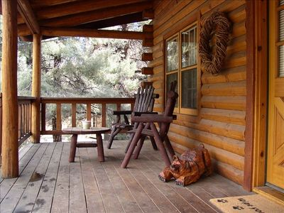 Come and Relax a spell in the crisp, pine fresh air at the Dancing Bear Cabin