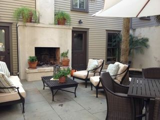 Savannah house photo - Courtyard with outdoor fireplace!